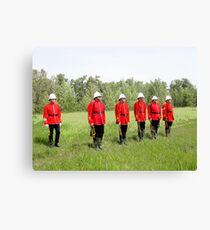 Northwest Mounted Police Regiment Canvas Print