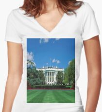 White House Women's Fitted V-Neck T-Shirt