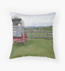 Western Beauty, Bar U Ranch Throw Pillow