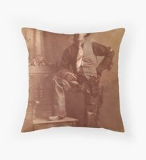 1908 Homesteading Grandpa Throw Pillow