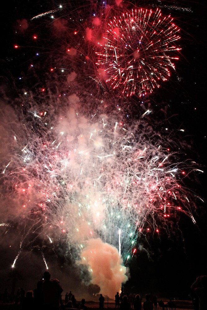 Fire Works at the Sands July 4th by Jay Reed