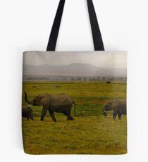 Elephant Patrol Tote Bag