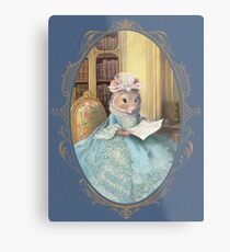 Madame Souris - an elegant mouse Metal Print
