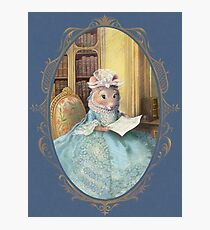 Madame Souris - an elegant mouse Photographic Print