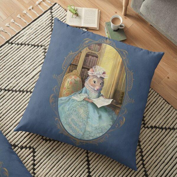 Madame Souris - an elegant mouse Floor Pillow