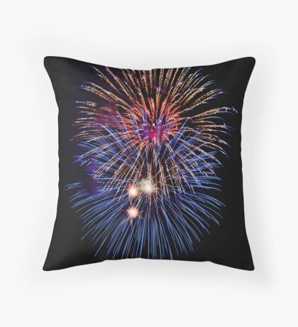 Big Balls of Fire Throw Pillow
