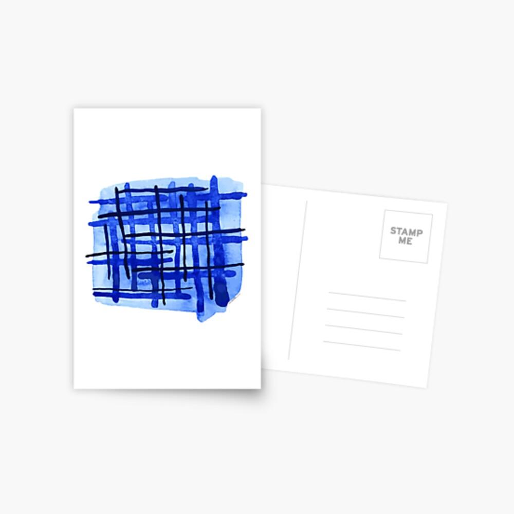 Blue Plaid Postcard