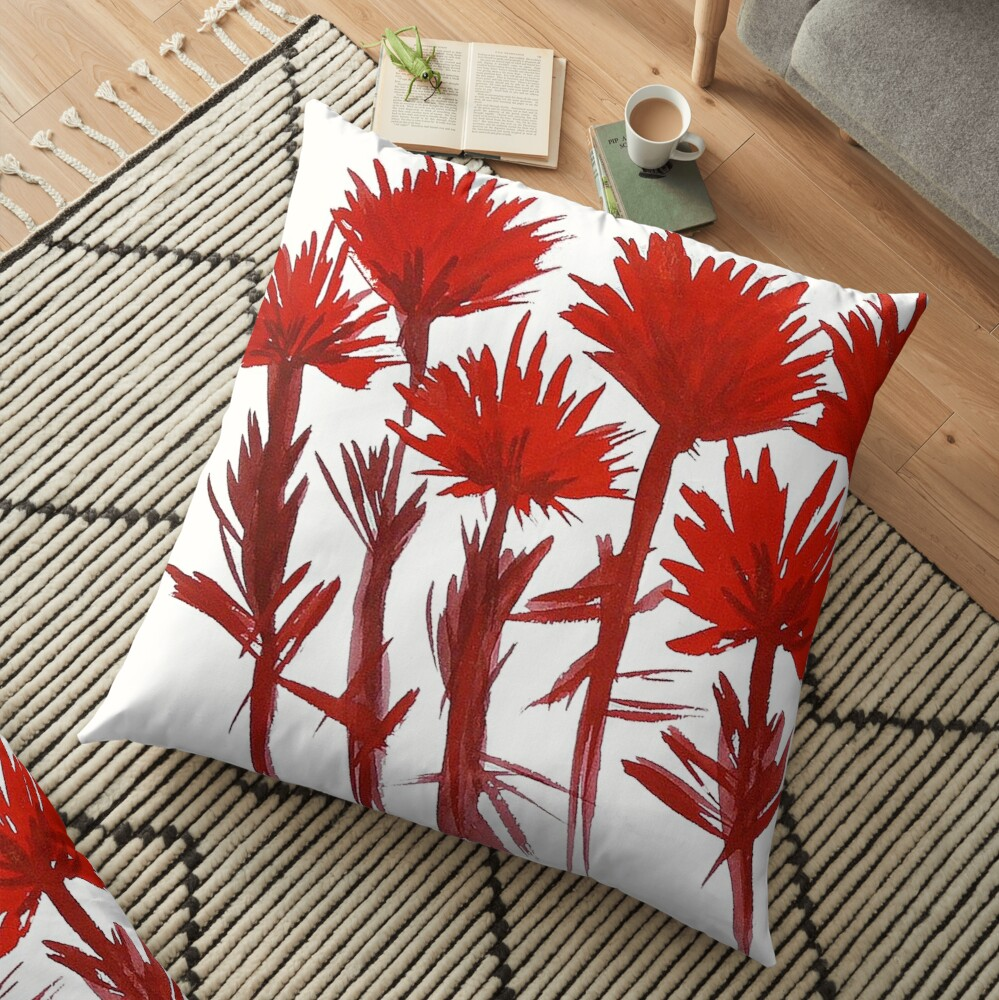 Indian Paintbrush  Floor Pillow