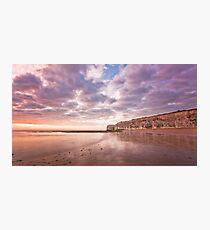 White Ness Cliffs Photographic Print
