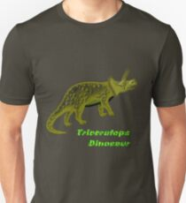 A digital painting of my vector drawing of a Triceratops Dinosaur T-Shirt