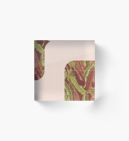 Mid-Century Tropical Style #redbubble #tropical Acrylic Block