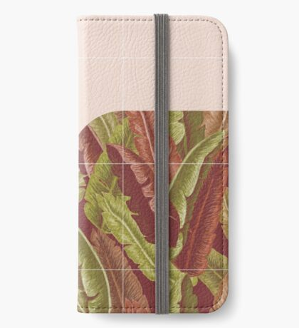 Mid-Century Tropical Style #redbubble #tropical iPhone Wallet