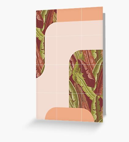 Mid-Century Tropical Style #redbubble #tropical Greeting Card
