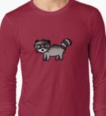 Cute raccoon animal  Long Sleeve T-Shirt