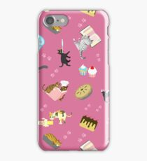 Cats Baking Cakes and other Sweets, in Pink iPhone Case/Skin