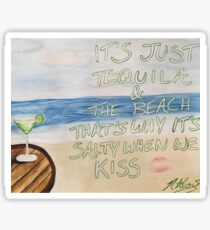 Dirty Heads Lay Me Down Quote Painting Sticker