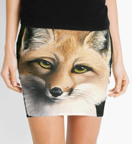 The Fox and the Cheese - Aesop's Fable Mini Skirt