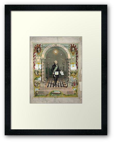 George Washington as a Freemason by Vintage Works