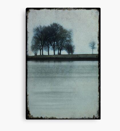 Lakeside Trees Canvas Print