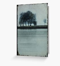 Lakeside Trees Greeting Card