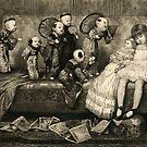 Sleeping Girl Dreams of Living Dolls by Vintage Works