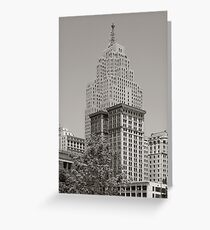 Detroit, the Penobscot building Greeting Card