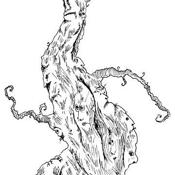 The many faced tree by marv42