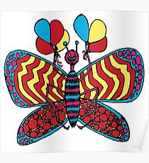 Biggest Beautiful Butterfly with BALLOONS! Poster