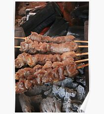 Skewers on a BBQ Poster