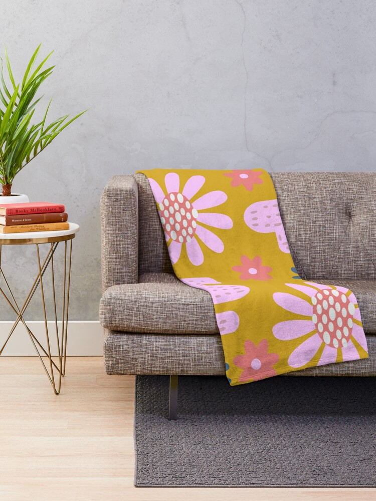 Alternate view of Nursery cactus decor Throw Blanket