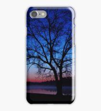 Oak Tree Silhouette Sunrise iPhone Case/Skin