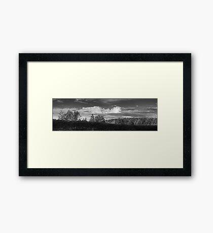 Cloudscape Panorama Framed Print