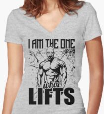 Breaking Bad I Am The One Who Lifts Gym Women's Fitted V-Neck T-Shirt