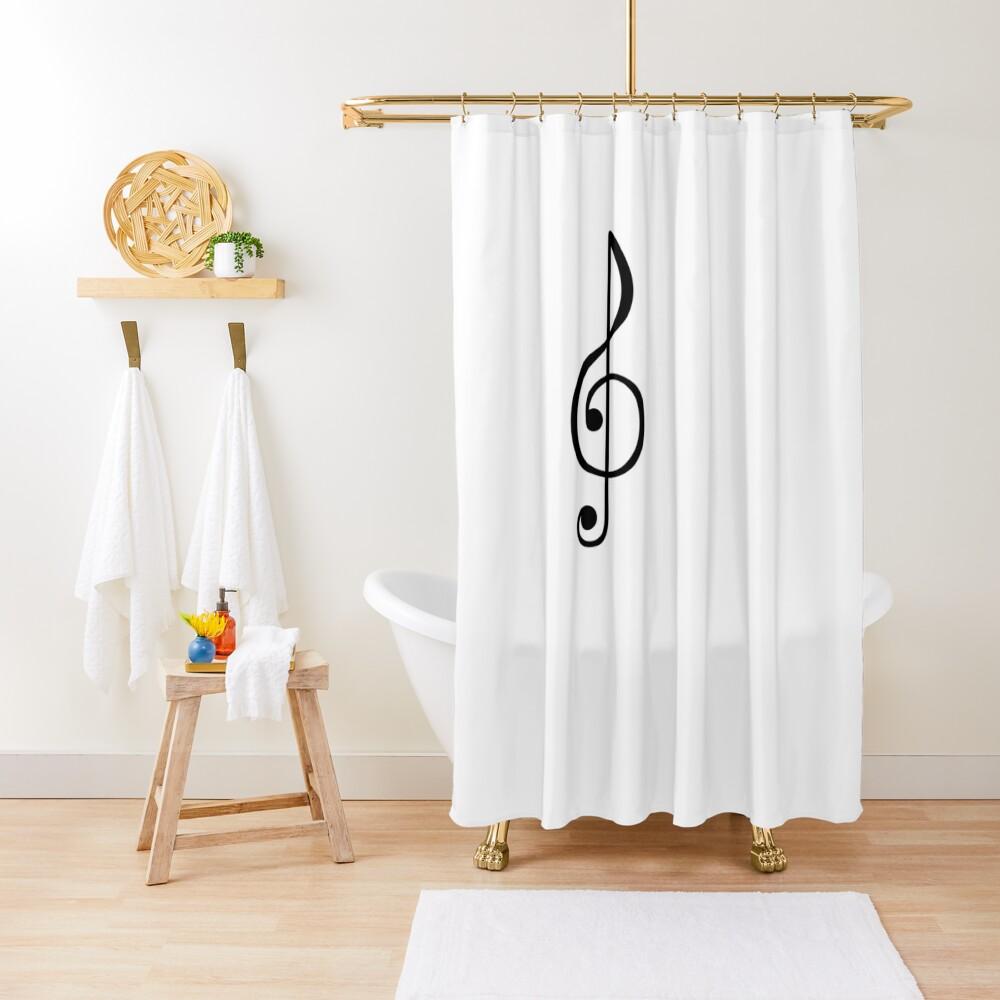 Treble Clef Symbol Shower Curtain