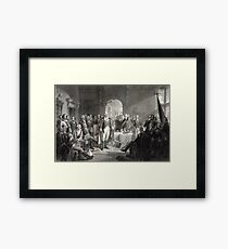 George Washington and His Generals Framed Print