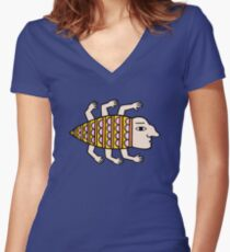 It lives in my brain Fitted V-Neck T-Shirt