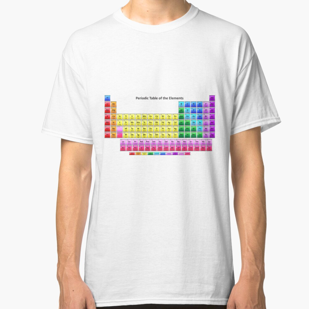 #Mendeleev's #Periodic #Table of the #Elements Classic T-Shirt