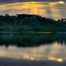A Little Ray Of Sunshine -Narrabeen Lakes, Sydney - The HDR Experience  by Philip Johnson
