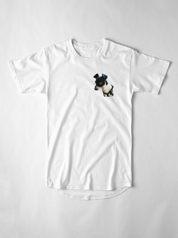 Alternate view of Carl the Rat Terrier Long T-Shirt