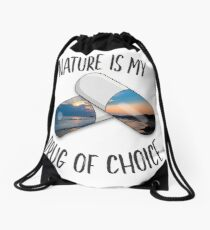 Nature is my Drug - Sunrise Drawstring Bag