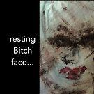 Art Female Art pop art Resting Bitch Face RBF by Angie Stimson
