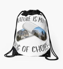 Nature is my Drug - Rainbow Drawstring Bag