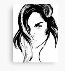 the bw girl  Canvas Print