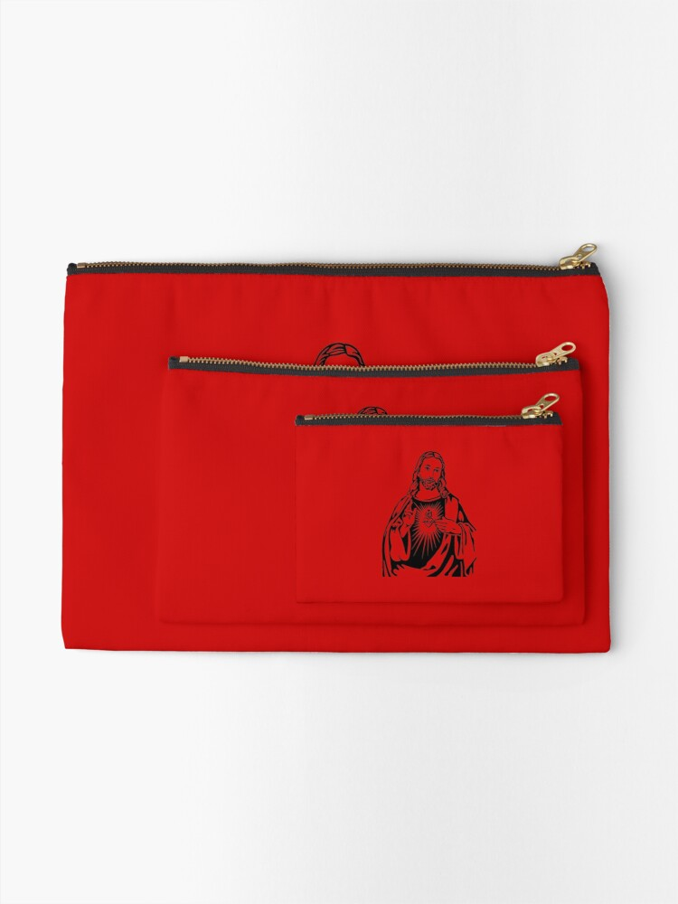 Alternate view of Sacred Heart Of Jesus Zipper Pouch