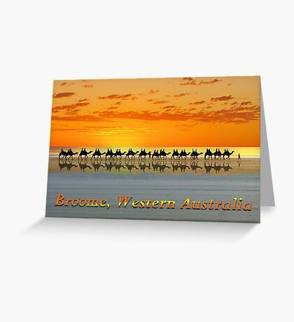 Broome, Western Australia, postcard Greeting Card