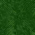 Psychedelic Pattern Weird and Bizarre Green Twisted Shape Swirl by IchGebWas
