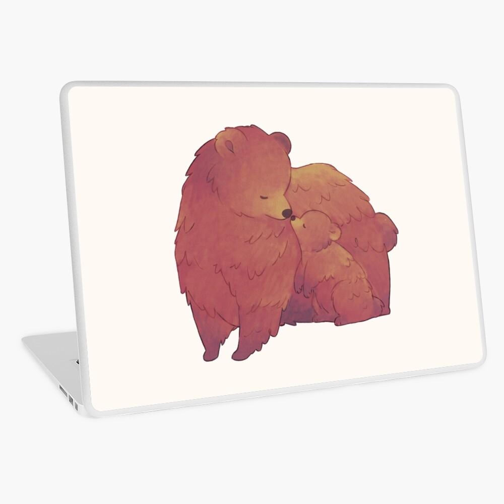 Mama Bear & Cub - [Light BG] Laptop Skin