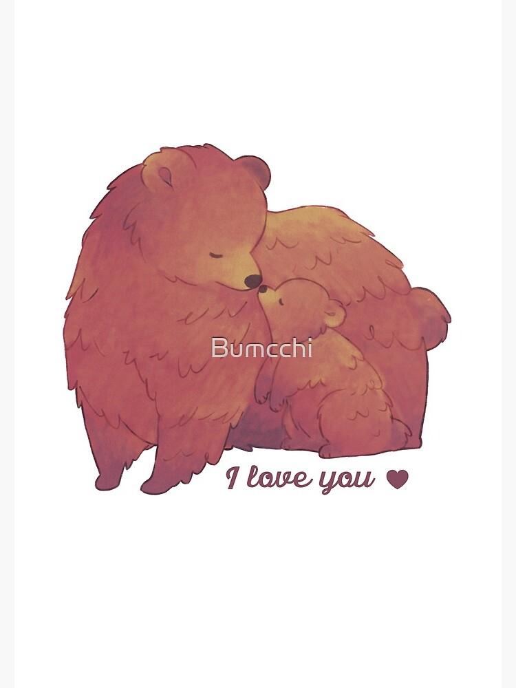 Happy Mothers Day 2 - Mama Bear & Cub - [Light BG] by Bumcchi