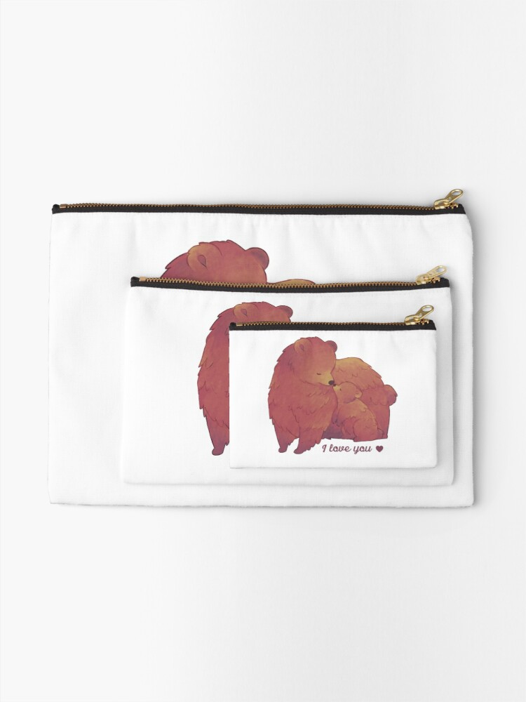 Alternate view of Happy Mothers Day 2 - Mama Bear & Cub - [Light BG] Zipper Pouch