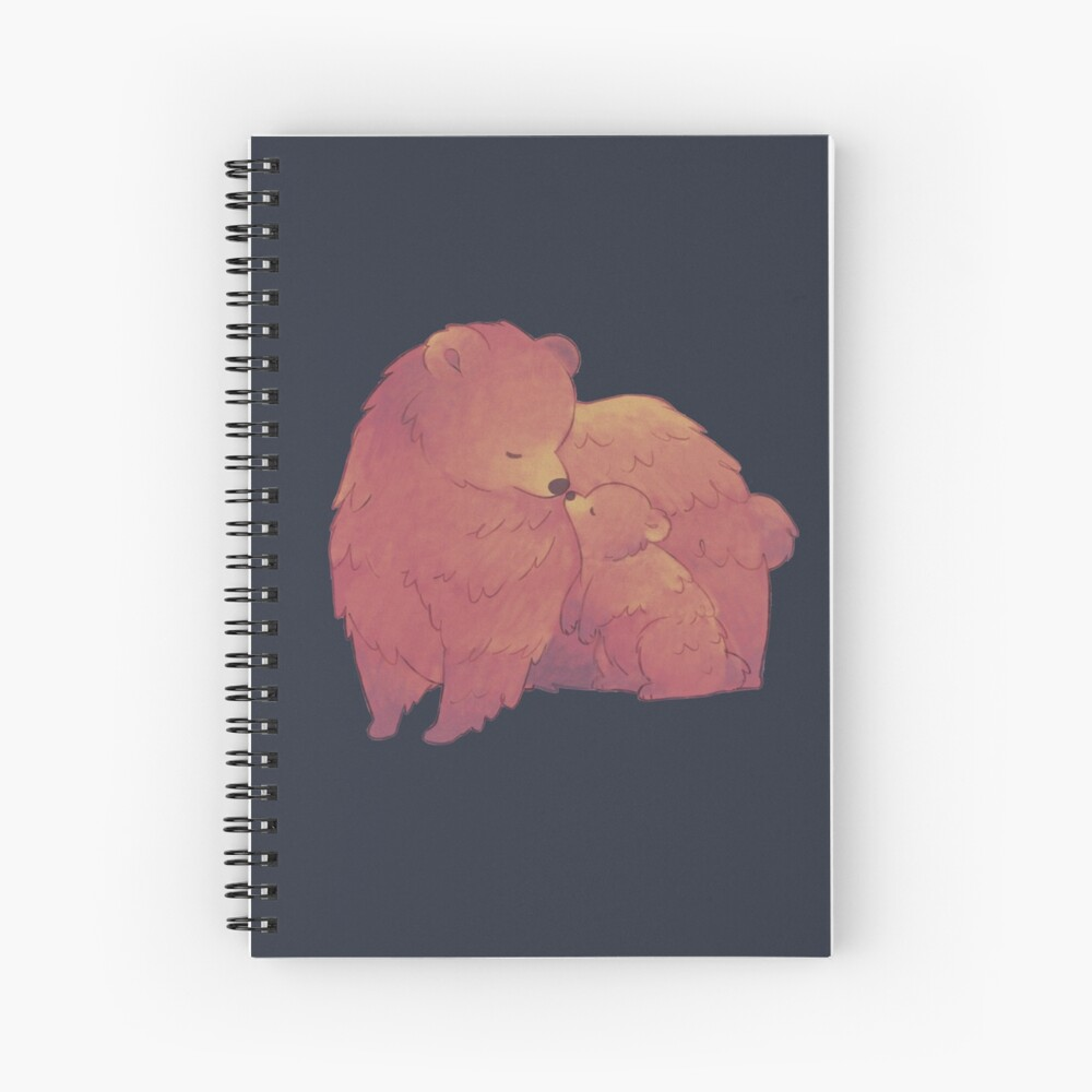 Mama Bear & Cub - [Dark BG] Spiral Notebook
